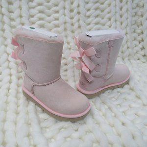 New UGG Bailey Bow II Girls Kids Pink Boots 1